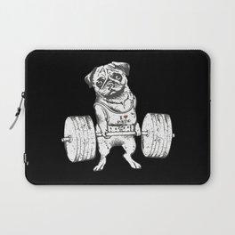 Pug Lift in Black Laptop Sleeve