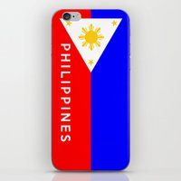 philippines iPhone & iPod Skins featuring flag of Philippines by tony tudor