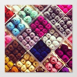 Yarn Display Canvas Print