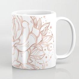Mandala Lunar Rose Gold Coffee Mug
