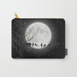 Moon Bath, Birds On A Wire Carry-All Pouch