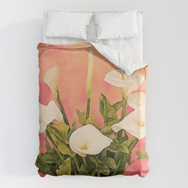 Monterey Calla Lilies Duvet Cover