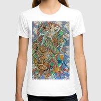 batik T-shirts featuring Batik Wayang by tanduksapi