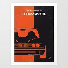 No552 My The Transporter minimal movie poster Art Print