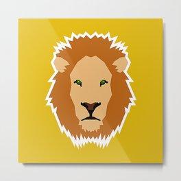 The Loyal Lion Metal Print