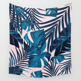 Tropical Jungle Leaves Pattern #6 #tropical #decor #art #society6 Wall Tapestry