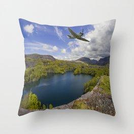 Spitfire Quarry Throw Pillow