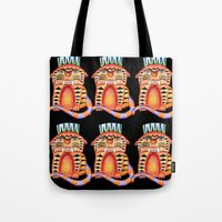 garfield Tote Bags featuring Garfield by Adrienne S. Price