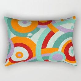 Colorful circles Rectangular Pillow