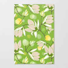 Magnolia Blossom Greenery Canvas Print
