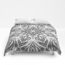 Gray Center Swirl Mandala Comforters