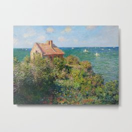Claude Monet - Fisherman's Cottage on the Cliffs at Varengeville Metal Print