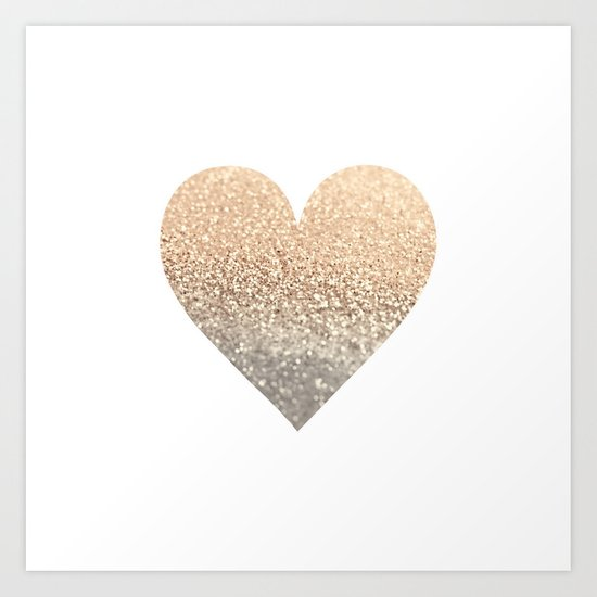 GOLD HEART Art Print