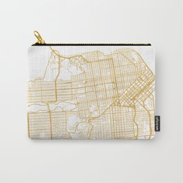 SAN FRANCISCO CALIFORNIA CITY STREET MAP ART Carry-All Pouch