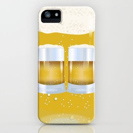 illustration of beer glass, Beer iPhone Case