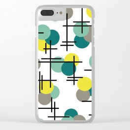 Atomic Age Molecules Clear iPhone Case