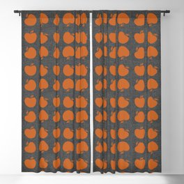 Terracotta Apples Blackout Curtain