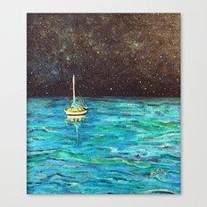 Sailboat Under The Stars Canvas Print