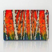birch iPad Cases featuring Orange Birch  by BeachStudio
