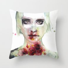 keeping inside this wild flowering Throw Pillow