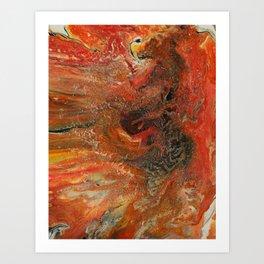 Nigrum Draco Aureum Art Print