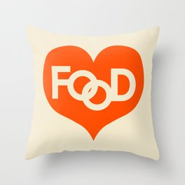 Food is My Love Throw Pillow