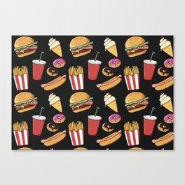 Fast-food (black) Canvas Print