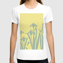 Abstract Daffodils  pattern yellow #daffodils #flowers T-shirt