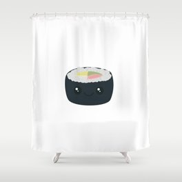 Smiling Sushi with Vegetables Shower Curtain