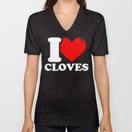 Clove Lover Gifts - I love Cloves Unisex V-Neck