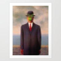 Lego: The Son of Man Art Print