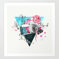 kpop Art Prints featuring Focus on beauty by Ariana Perez