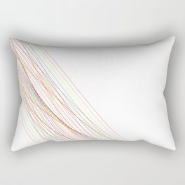 Rainbow Lines (White) Rectangular Pillow