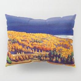 Golden Autumn landscape painting by Rockwell Kent Pillow Sham