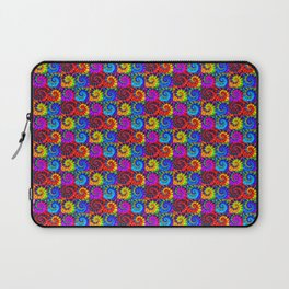 Spiral Tie Dye Checkerboard Laptop Sleeve