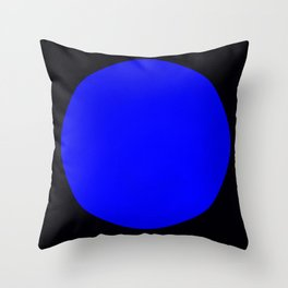 blue hole Throw Pillow
