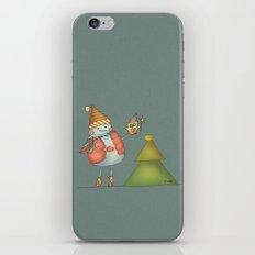 Friends keep warm - greyish iPhone & iPod Skin