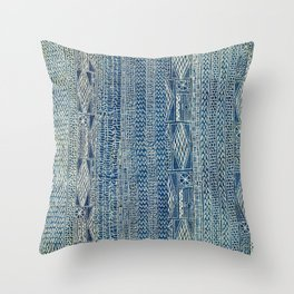 Ndop Cameroon West African Textile Print Throw Pillow