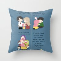 islam Throw Pillows featuring Women in Islam by SpreadSalam