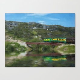 White Pass Train Canvas Print