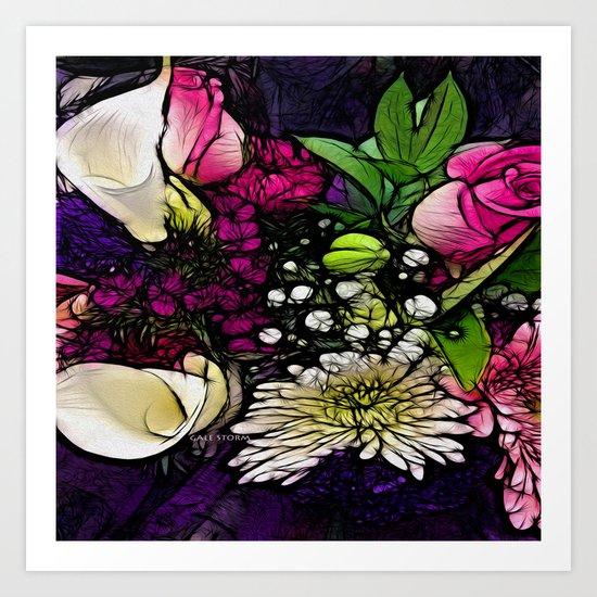 :: Bring Flowers :: Art Print