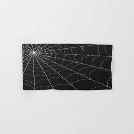 Spiderweb on Black Hand & Bath Towel