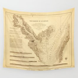 Map of the Harbor of Annapolis (1846) Wall Tapestry