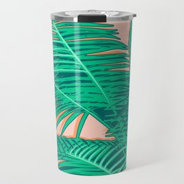 Palm trees on pink Travel Mug