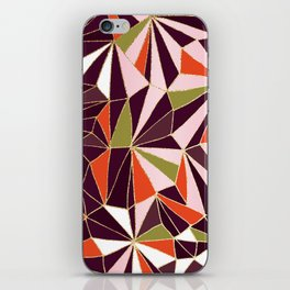 New Art Deco Geometric Pattern - Burgundi and Pink #deco #buyart iPhone Skin