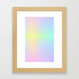 LUSH / Plain Soft Mood Color Blends / iPhone Case Framed Art Print