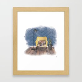 Home is Where Your Dog is Framed Art Print