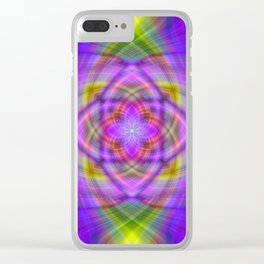 Pastel Twirl Clear iPhone Case