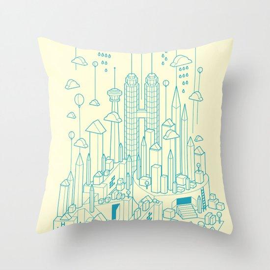 Kuala Lumpur Throw Pillow