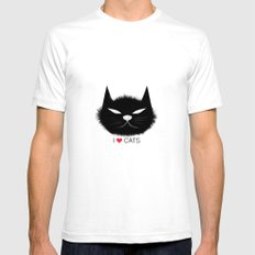 PERSONALITY OF A CAT Mens Fitted Tee White SMALL